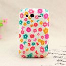 Coque HTC Wildfire S G13 A510e Fleurs Silicone Housse Gel - Rose