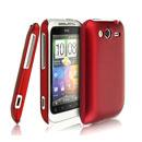 Coque HTC Wildfire S G13 A510e Plastique Etui Rigide - Rouge