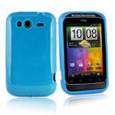 Coque HTC Wildfire S G13 A510e Silicone Gel Housse - Bleu