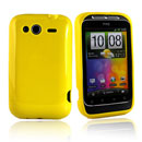 Coque HTC Wildfire S G13 A510e Silicone Gel Housse - Jaune