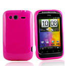 Coque HTC Wildfire S G13 A510e Silicone Gel Housse - Rose Chaud
