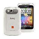 Coque HTC Wildfire S G13 A510e Transparent Plastique Etui Rigide - Clear