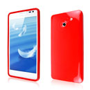 Coque Huawei Ascend D2 Silicone Gel Housse - Rouge