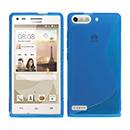 Coque Huawei Ascend G6 S-Line Silicone Gel Housse - Bleu