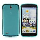 Coque Huawei Ascend G610 Silicone Transparent Housse - Bleu