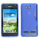 Coque Huawei Ascend G615 S-Line Silicone Gel Housse - Bleu