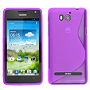 Coque Huawei Ascend G615 S-Line Silicone Gel Housse - Pourpre