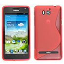 Coque Huawei Ascend G615 S-Line Silicone Gel Housse - Rouge