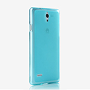 Coque Huawei Ascend G700 Silicone Transparent Housse - Bleu
