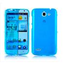 Coque Huawei Ascend G730 Flip Silicone Gel Housse - Bleu