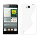 Coque Huawei Ascend G740 S-Line Silicone Gel Housse - Blanche