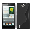 Coque Huawei Ascend G740 S-Line Silicone Gel Housse - Noire