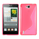 Coque Huawei Ascend G740 S-Line Silicone Gel Housse - Rose Chaud