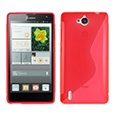 Coque Huawei Ascend G740 S-Line Silicone Gel Housse - Rouge