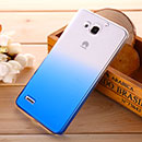 Coque Huawei Ascend G750 Degrade Etui Rigide - Bleu