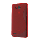 Coque Huawei Ascend G750 S-Line Silicone Gel Housse - Rouge