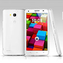 Coque Huawei Ascend G750 Silicone Transparent Housse - Blanche