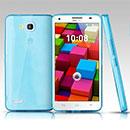 Coque Huawei Ascend G750 Silicone Transparent Housse - Bleu