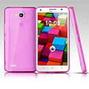 Coque Huawei Ascend G750 Silicone Transparent Housse - Rose
