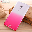 Coque Huawei Ascend Mate 2 Degrade Etui Rigide - Rose Chaud