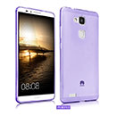 Coque Huawei Ascend Mate 7 Silicone Transparent Housse - Pourpre
