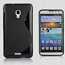 Coque Huawei Ascend Mate2 S-Line Silicone Gel Housse - Noire