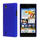 Coque Huawei Ascend P2 Plastique Etui Rigide - Bleu