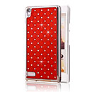 Coque Huawei Ascend P6 Diamant Bling Etui Rigide - Rouge