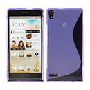 Coque HuaWei Ascend P6 S-Line Silicone Gel Housse - Pourpre
