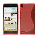 Coque HuaWei Ascend P6 S-Line Silicone Gel Housse - Rouge
