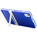 Coque Huawei Ascend P6 Support Silicone Gel Housse - Bleu