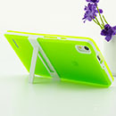 Coque Huawei Ascend P6 Support Silicone Gel Housse - Verte