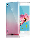 Coque Huawei Ascend P7 Degrade Silicone Gel Housse - Bleu