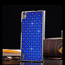 Coque Huawei Ascend P7 Diamant Bling Etui Rigide - Bleu