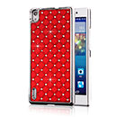 Coque Huawei Ascend P7 Diamant Bling Etui Rigide - Rouge