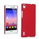 Coque Huawei Ascend P7 Plastique Etui Rigide - Rouge