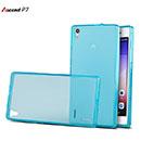 Coque Huawei Ascend P7 Silicone Transparent Housse - Bleu