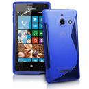 Coque Huawei Ascend W1 Windows Phone S-Line Silicone Gel Housse - Bleu