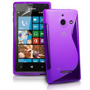 Coque Huawei Ascend W1 Windows Phone S-Line Silicone Gel Housse - Pourpre