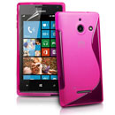 Coque Huawei Ascend W1 Windows Phone S-Line Silicone Gel Housse - Rose Chaud
