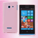 Coque Huawei Ascend W1 Windows Phone Silicone Gel Housse - Rose