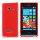 Coque Huawei Ascend W1 Windows Phone Silicone Gel Housse - Rouge