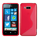 Coque Huawei Ascend W2 S-Line Silicone Gel Housse - Rouge