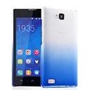 Coque Huawei Honor 3C Degrade Etui Rigide - Bleu