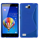 Coque Huawei Honor 3C S-Line Silicone Gel Housse - Bleu
