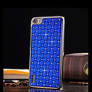 Coque Huawei Honor 6 Diamant Bling Etui Rigide - Bleu