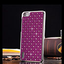 Coque Huawei Honor 6 Diamant Bling Etui Rigide - Pourpre