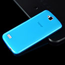 Coque Huawei Honor Holly Silicone Transparent Housse - Bleu