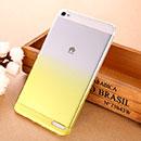 Coque Huawei Mediapad X1 Degrade Etui Rigide - Jaune