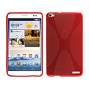 Coque Huawei Mediapad X1 X-Style Silicone Gel Housse - Rouge